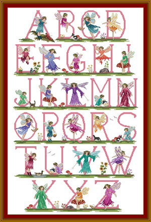Cross Stitch Fairy Alphabet