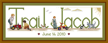 Personalised Boys Cross stitch
